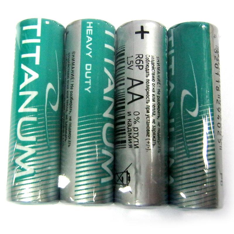 Фото нетБатарейка R6 Titanium shrink по 4 шт