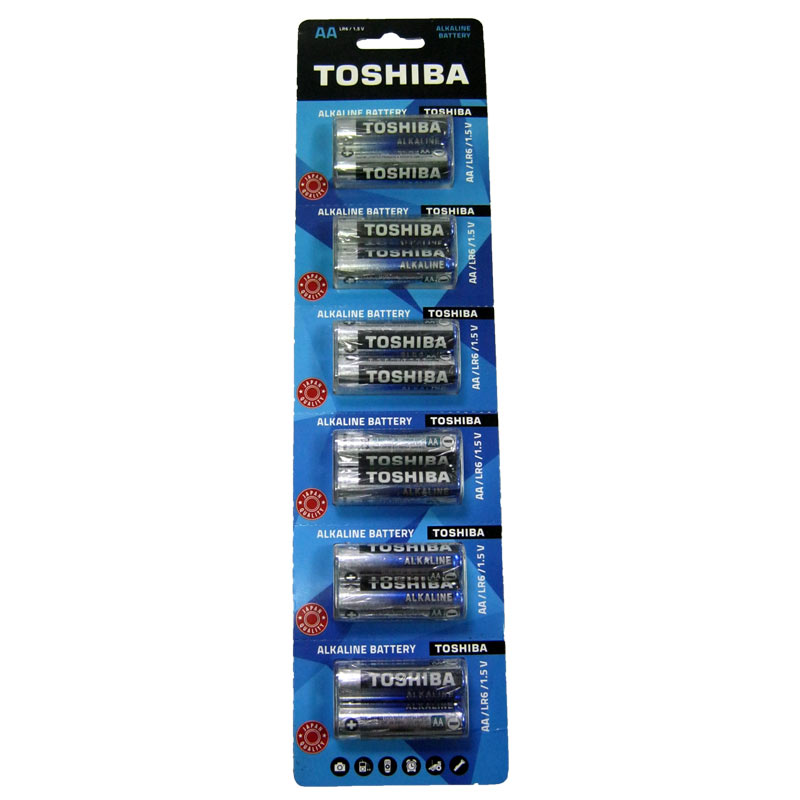 Фото нетБатарейка LR6 Toshiba блистер (по 2шт)