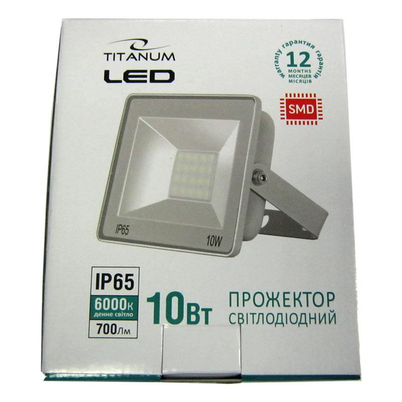 Прожектор светодиодный TITANIUM 10W 6000K (TLF106)(Cупер цена!!!)