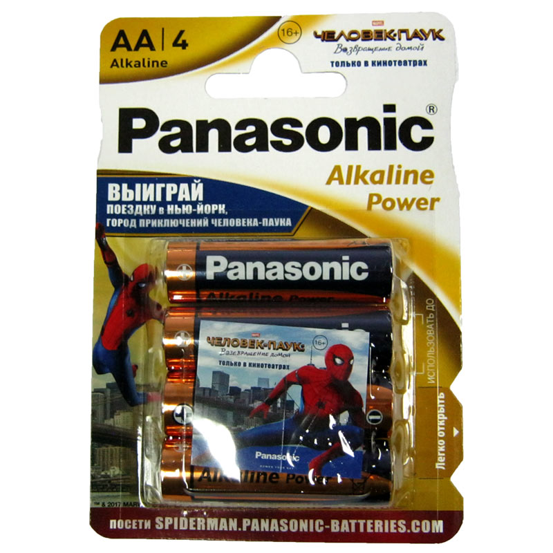Фото нетБатарейка LR6 Panasonic Power blister (по 4шт)