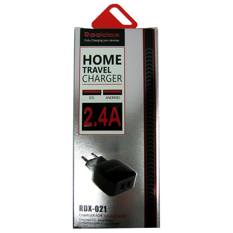 Зарядное устройство Reddax RDX-021 2-USB; 2,4A+кабель microUSB