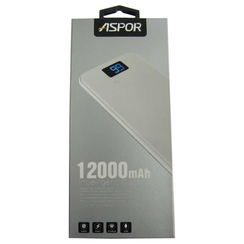 Портативное зарядное устройство ASPOR A386 Li-Pol(12000mAh)1-USB(2,4А) Original