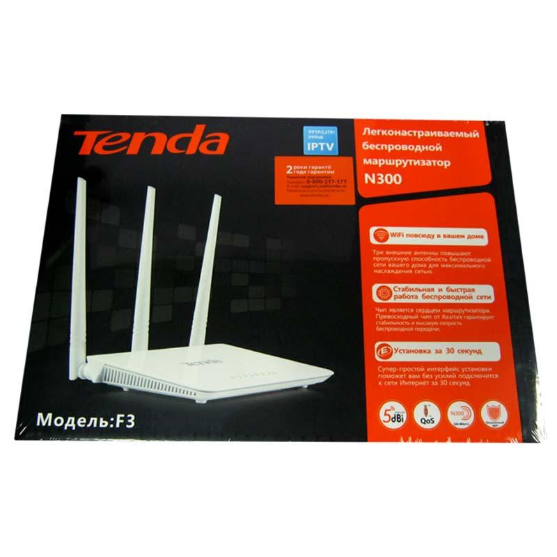 Беспроводный маршрутизатор TENDA F3 300Mbps ;3-antenna;Wireless N Router