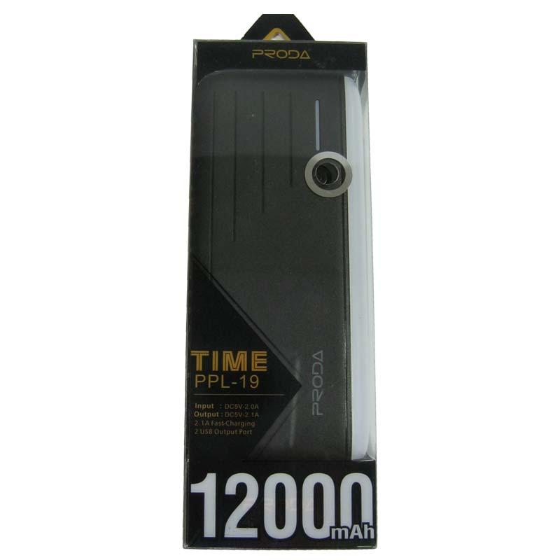 Портативное зарядное устройство Remax Proda PPL-19 Fast+SMD(12000mAh) 2USB(1А+2,1А) Original