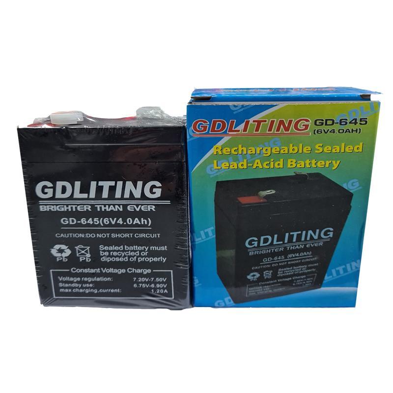 Фото нетАккумулятор свинцово-кислотный YongYang 6-4.5(6V,4.5Ah)
