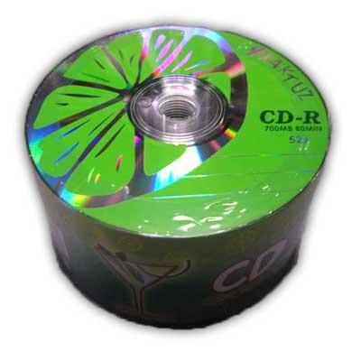 Диск CD-R Kaktuz 700Mb/80min 52-x (bulk 50)