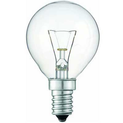 Лампочка PHILIPS Р-45 шар Е14 40 W обыкн.проз.(Распродажа)