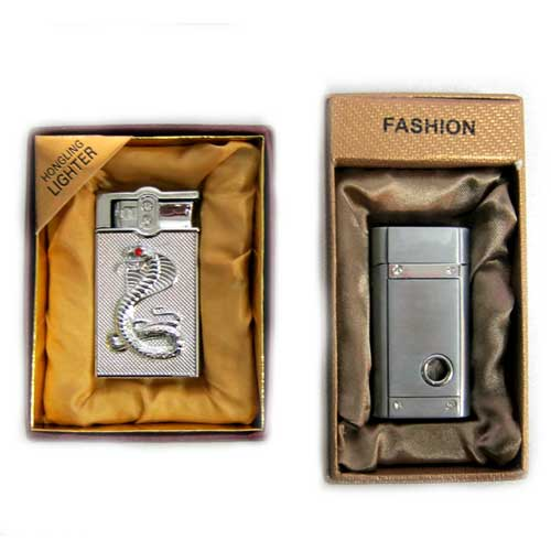 Зажигалка подарочная картон в ассортименте