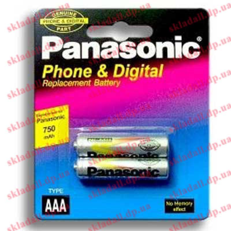 Аккумулятор R03 Panasonic 750mАh NiMH по 2шт