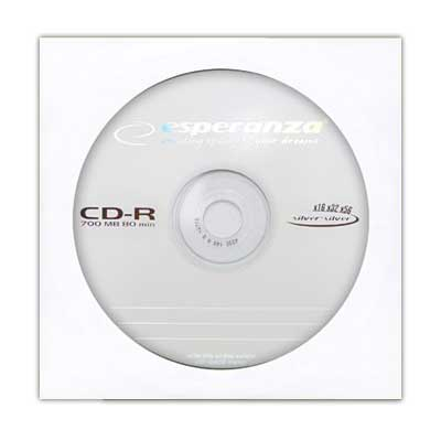 Диск CD-R Esperanza;VIDEX 700Mb/80min 52-x в конверте