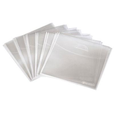 Конверт пластиковый(прозрачный,полипропилен) 80mg для CD;DVD (100шт)