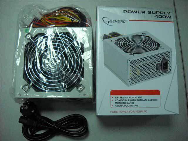 Блок питания Gembird 400W CCC-PSU4-12 ATX+шнур питания Dual Fan