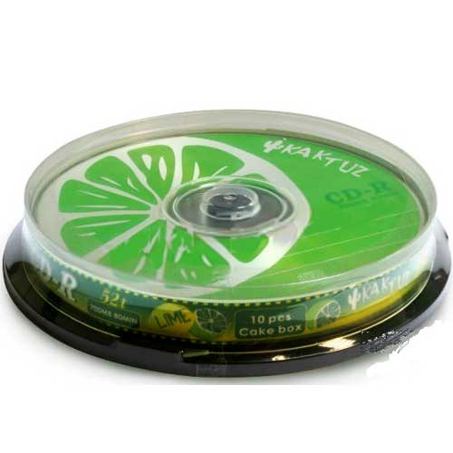 Диск CD-R Kaktuz 700Mb/80min 52-x (bulk 10)