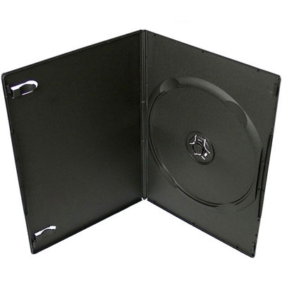 Коробка DVD-BOX 9mm single black glossy