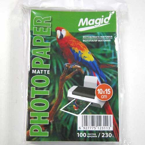 Фотобумага Magic A6 Inkjet Matte Paper 100л 230г/м2 матовая(10х15 см)