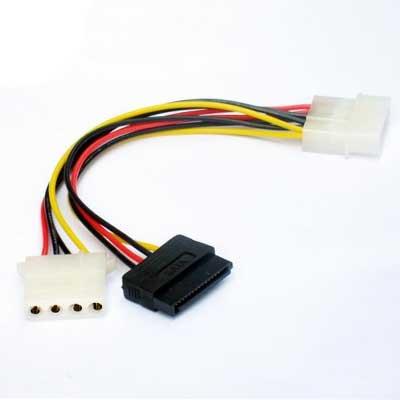 Кабель Gembird интерфейса CC-SATA-PSY2,кабель питания папа/мама+SATA 135mm