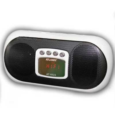 Портативная колонка Atlanfa AT-6523(Распродажа)(аккумулятор,FM;USB;microSD)
