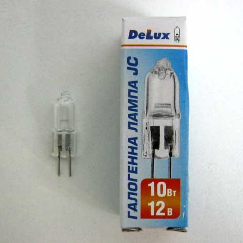 Лампочка DELUX галогеновая JC 12V 10W G4 капс.