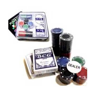 Покерный набор Покер 100(WS-L105) металл (карты + фишки)(Распродажа!!!)