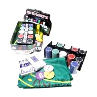 Покерный набор Покер 200(TC04200C) металл (карты + фишки+сукно)