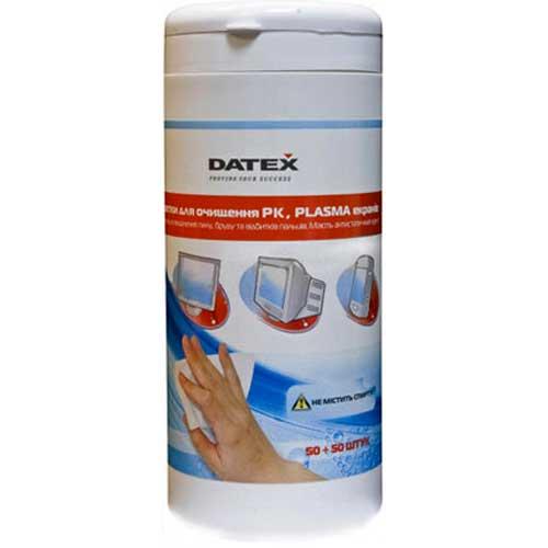 Чистящие салфетки DATEX N-5835R для TFT;LED экранов(банка 50штсухих+50шт влажных)