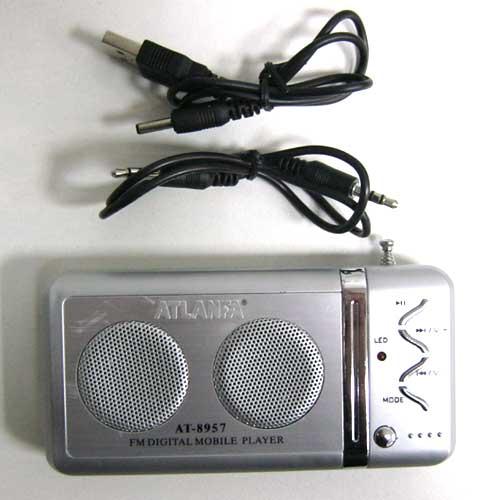 Портативная колонка Atlanfa AT-8957 (Распродажа!!!)без аккумулятора,USB;SD+FM