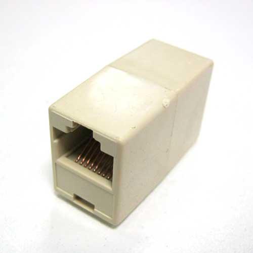 Переходник соединитель ATCOM RJ45 8P8C ( мама-мама) компьютерного кабеля