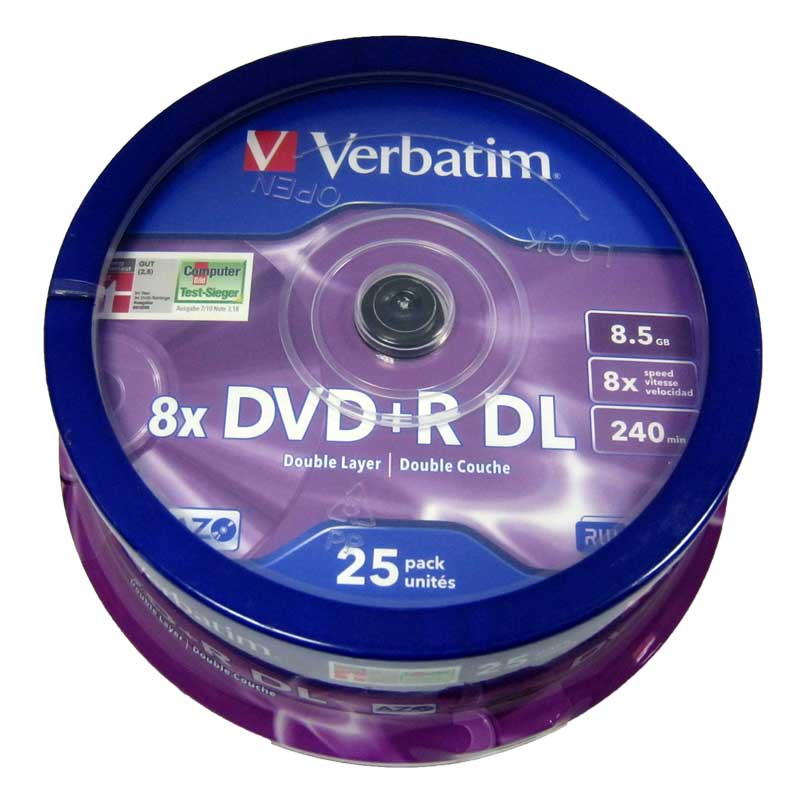 disk-verbatim-8-5gb---8x-dvd-r-cake-25-double-layer