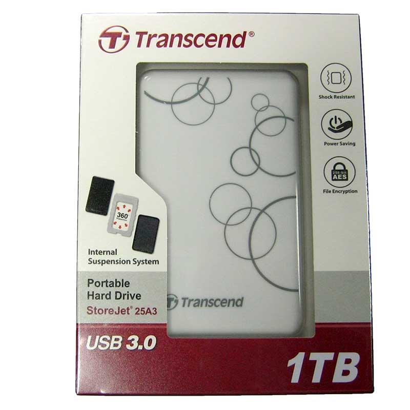 Портативный жёсткий диск HDD.1.0Tb Transcend TSJ25A3K USB3.0 SJ2.5