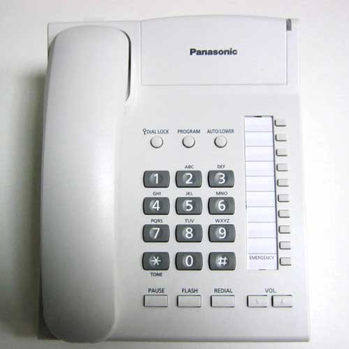 Телефон Panasonic KX-TS2382UAW(Распродажа) (белый) с индикатором звонка