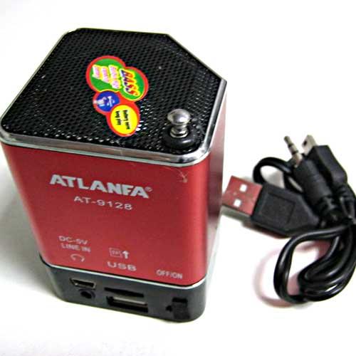 Портативная колонка Atlanfa AT-9128 мини(Распродажа!!!)(аккумулятор.USB;microSD)