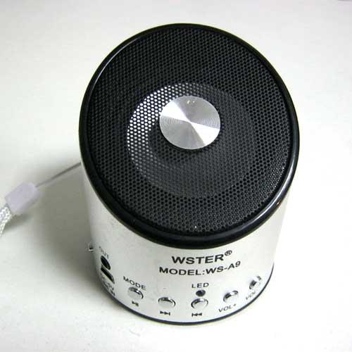 Портативная колонка WS-A9 мини(Распродажа!!!)(аккумулятор.USB;microSD)