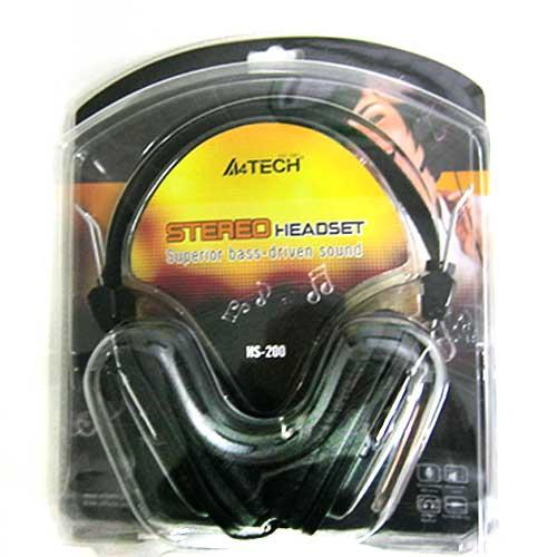Наушники с микрофоном A4-Tech HS-200