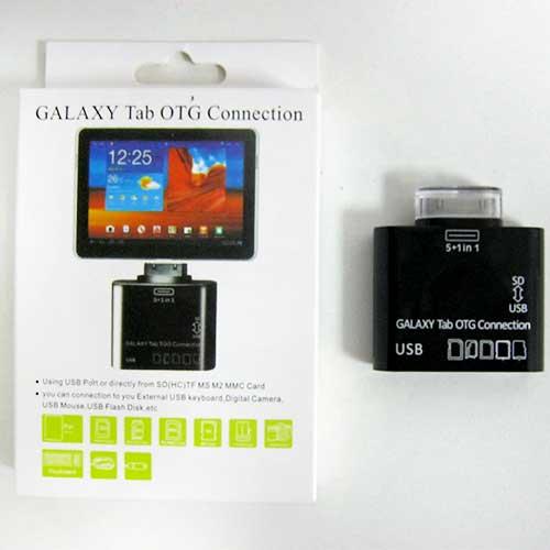 Переходник OTG USB-30pin Samsung Galaxy Tab(USB,картридер)(Распродажа!!!)
