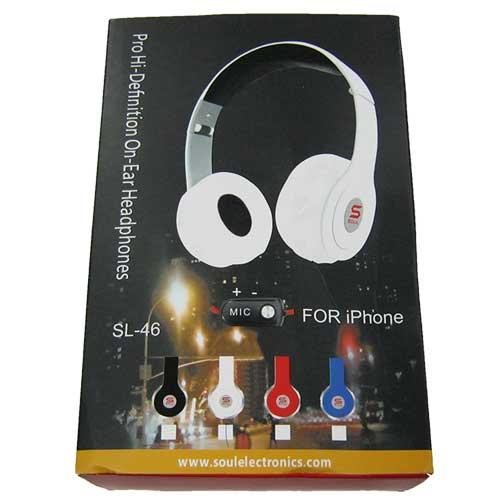 Гарнитура для телефона (Китай А) Monster SOUL SL-46(Распродажа!!!)(для iPhone)