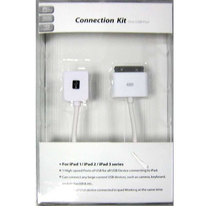 Кабель ATcom OTG USB-30pin Apple(Распродажа)(для подключения USB-устройств к Apple) 0.15m