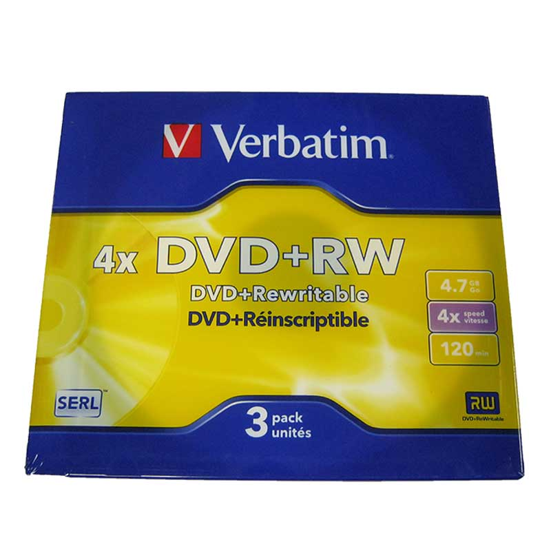 Диски Verbatim DVD+RW 4,7Gb/4x slim