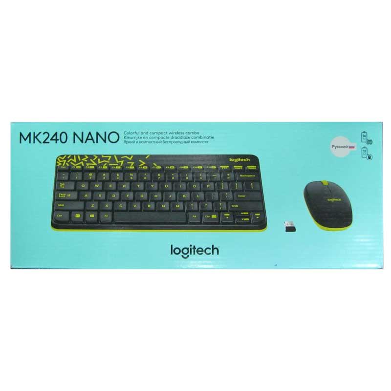 Беспроводная клавиатура Logitech Wrieleess MK 240 Black + мышка