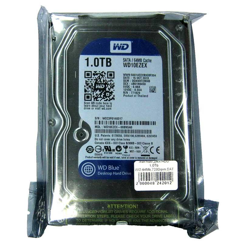 Жесткий диск HDD 1,0Tb WD,64Mb,7200rpm,SATAIII; WD10EZEX