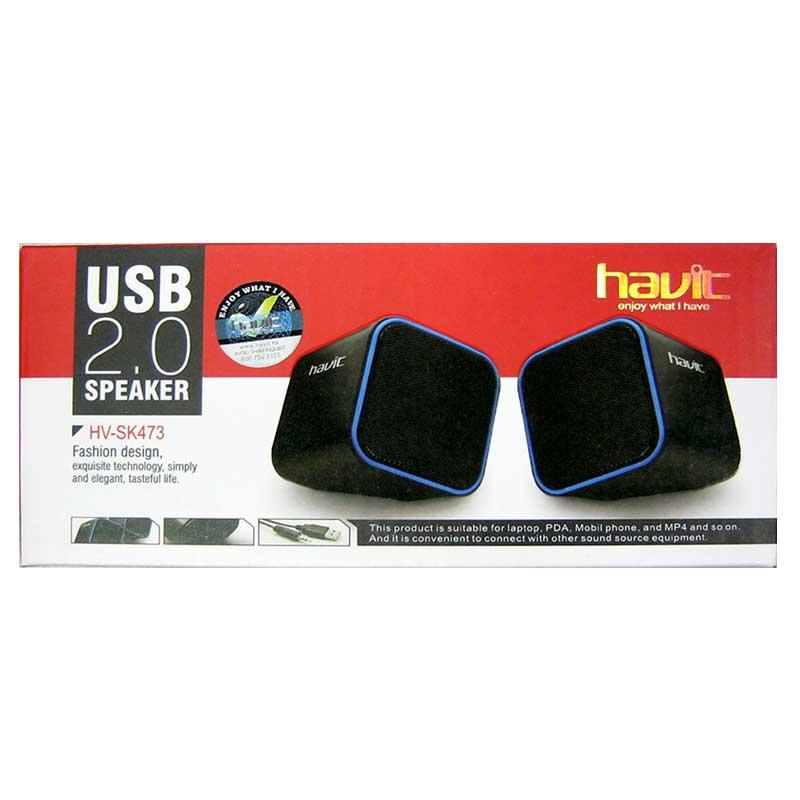 Колонки Havit HV-SK473 USB, black+red;black+blue;black+green