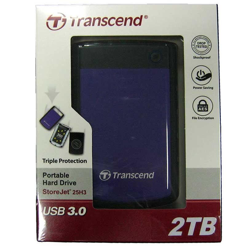 Портативный жёсткий диск HDD.2.0Tb Transcend TSJ25H3B USB3.1 SJ2.5