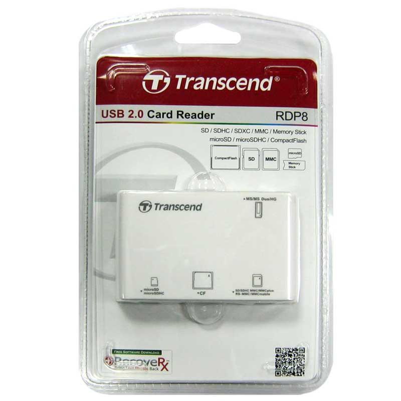 Кардридер Transcend TS-RDF8W USB 3.0 All-in-1 (белый)