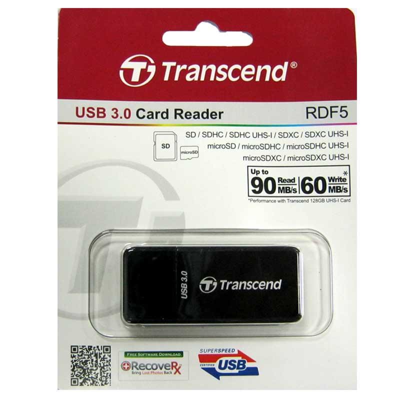 Кардридер Transcend TS-RDF5K black; USB 3.1