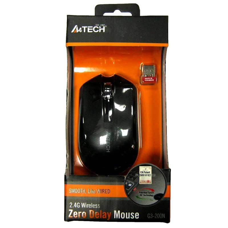Беспроводная мышка A4Tech G3-200N Black,V-TRACK USB(Акция!!!)