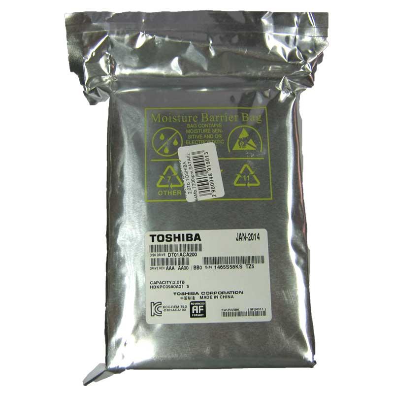 Жесткий диск HDD 2,0Tb TOSHIBA 64Mb,7200rpm,SATAIII; DT01ACA100