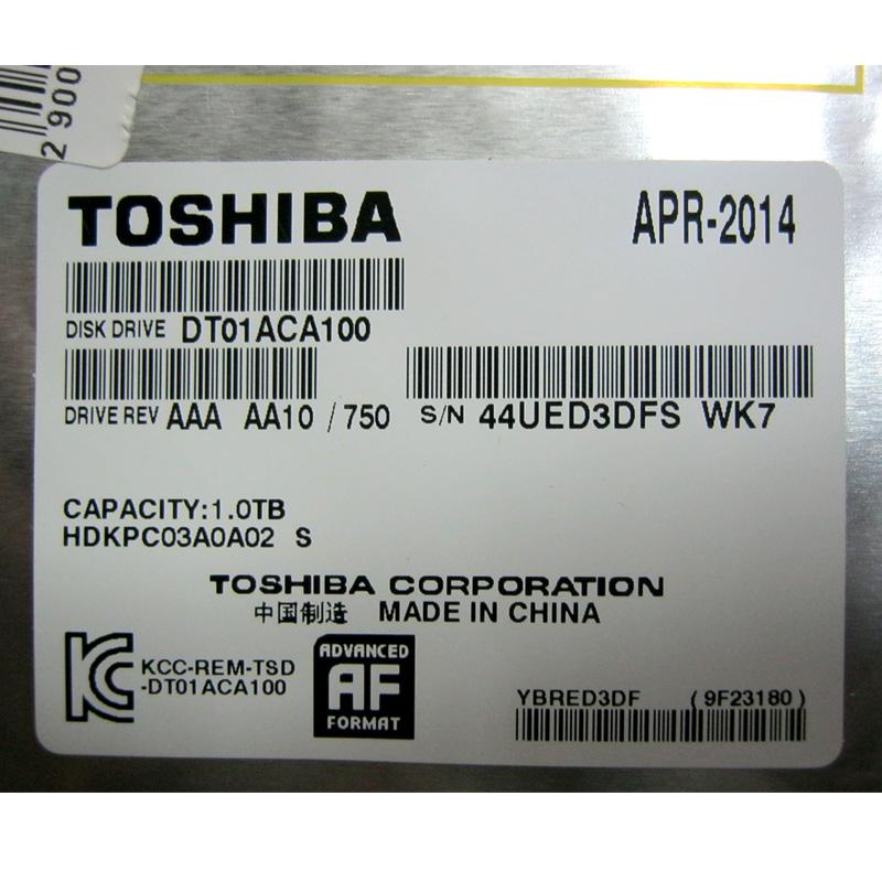 Жесткий диск HDD 1,0Tb TOSHIBA 64Mb,7200rpm,SATAIII; DT01ACA100