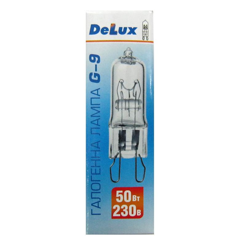 Лампочка DELUX галогеновая G-9 50W 220V прозрачная