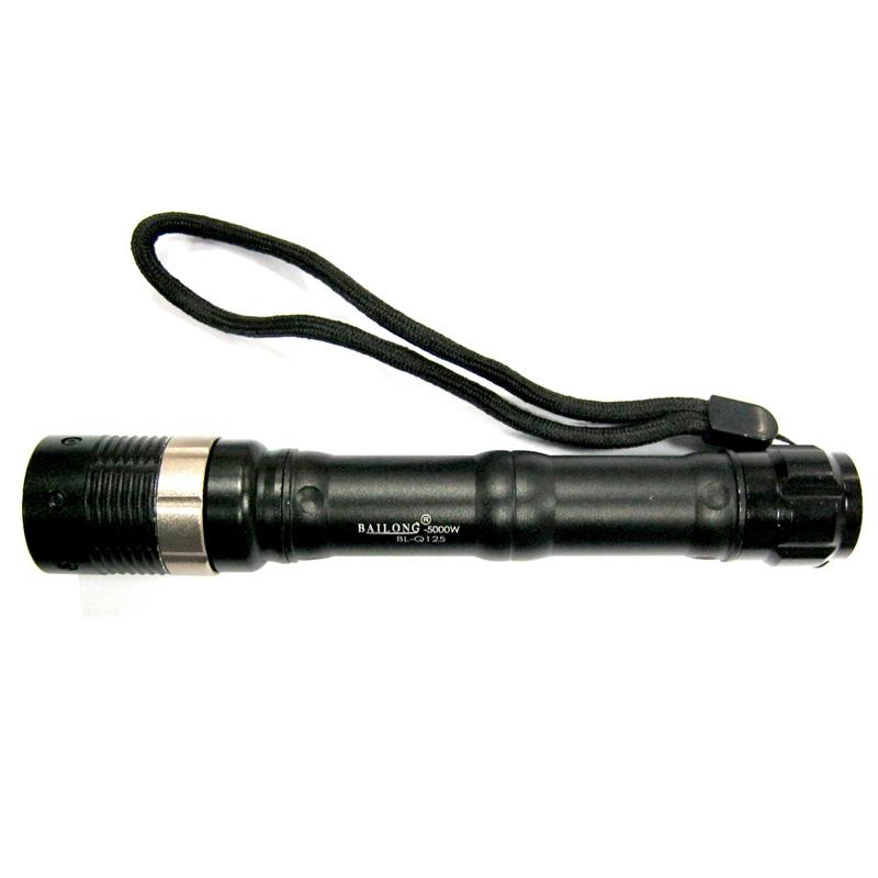 Фонарь свет-ный метал.POLICE BL-Q125(Распродажа)(1xLED;zoom;5000W; 2xR06)