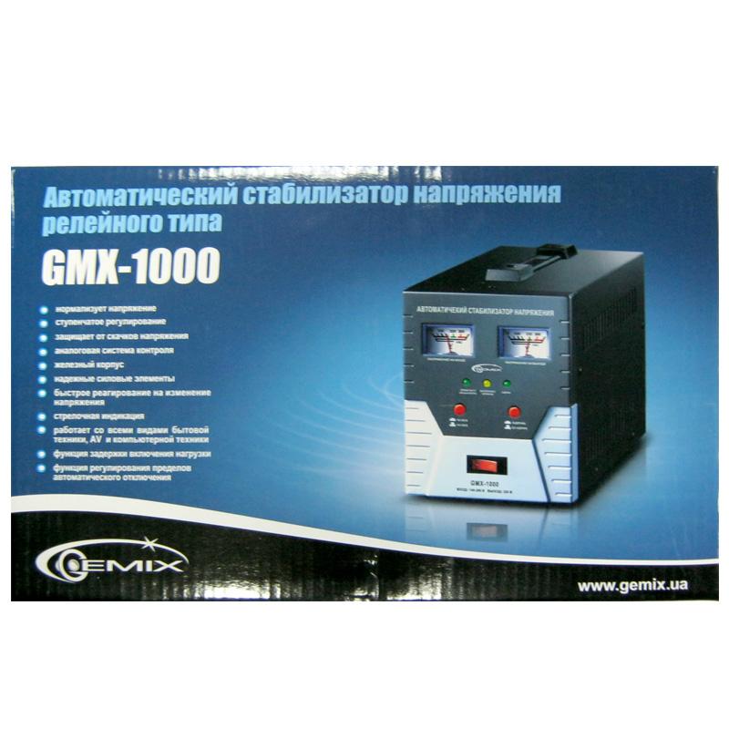 Стабилизатор Gemix GMX-1000 (700W);стрелочный,m=4.8кг(170x125x235mm)