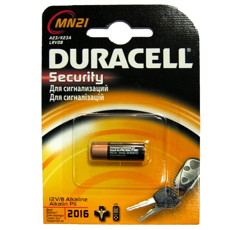 Батарейка 23A Duracell MN21 12B блистер (для сигнализации)